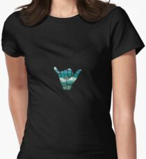 Shaka  Womens Fitted T-Shirt