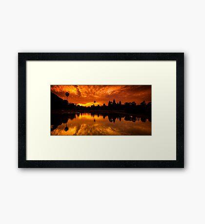 Angkor Wat Sunrise Framed Print