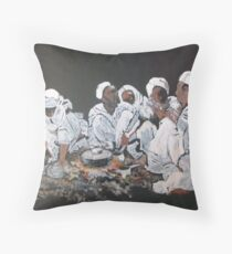 Nomad dinner Throw Pillow
