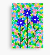 FLOWERS - AQUAREL AND GOUACHE Canvas Print