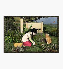 Gardening Photographic Print