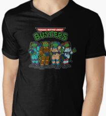 Teenage Mutant Ghost Busters Men's V-Neck T-Shirt