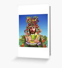 Herbal Jesus Greeting Card