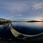 Dawn Calm at Foyle Marina, Derry, N.Ireland by George Row
