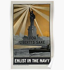 For Libertys sake enlist in the Navy 002 Poster