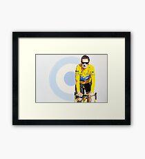 BRADLEY WIGGINS - MOD GOD CYCLIST Framed Print