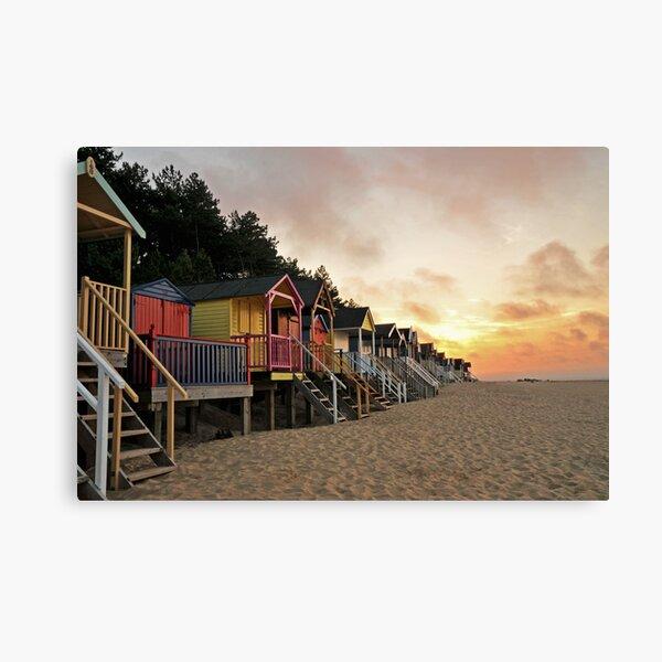 Wells Beach huts Canvas Print