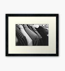 Street Suits  Framed Print