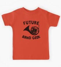 Future Band Geek French Horn Kids Tee