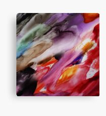 Flowing Up Watercolor Painting Canvas Print