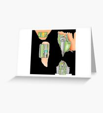 Fembot / Robot Leggings Black and other bits Greeting Card