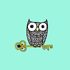 iPhone owl and key by eleveneleven