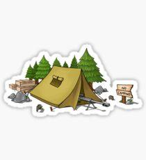 no camping Sticker