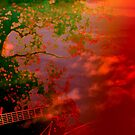 Feeling Free with Guitar and Trees by Louise Linossi Telfer