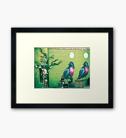SONG BIRDS. Framed Print