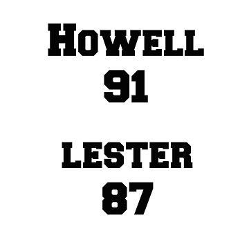 Howell 91, Lester 87 by pastelkitten