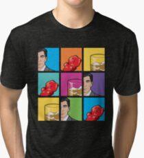 scotch & gummy bears pattern Tri-blend T-Shirt