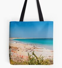 Cable beach panorama Tote Bag