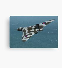 Eastbourne Airshow and the Vulcan Bomber. Canvas Print