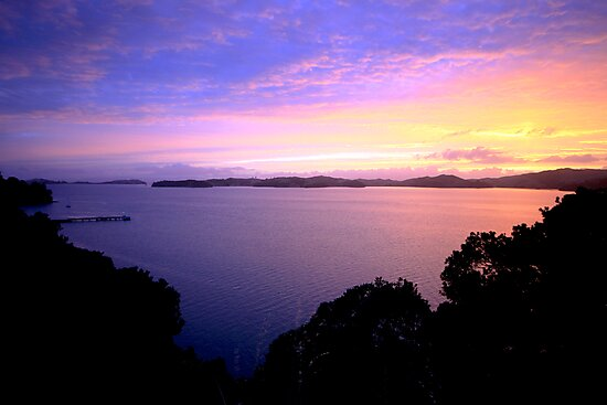 Waiheke Island Sunset by kmatm