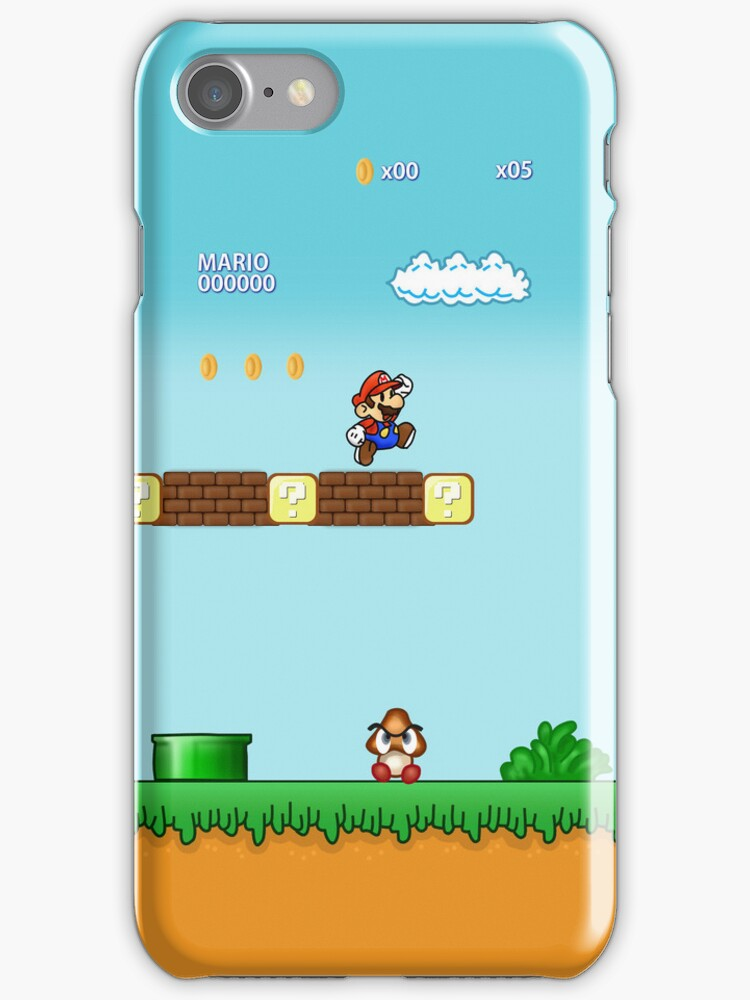 Mario Bross Iphone Case by Mhaddie