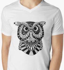 Owl Boho Illustration Men's V-Neck T-Shirt