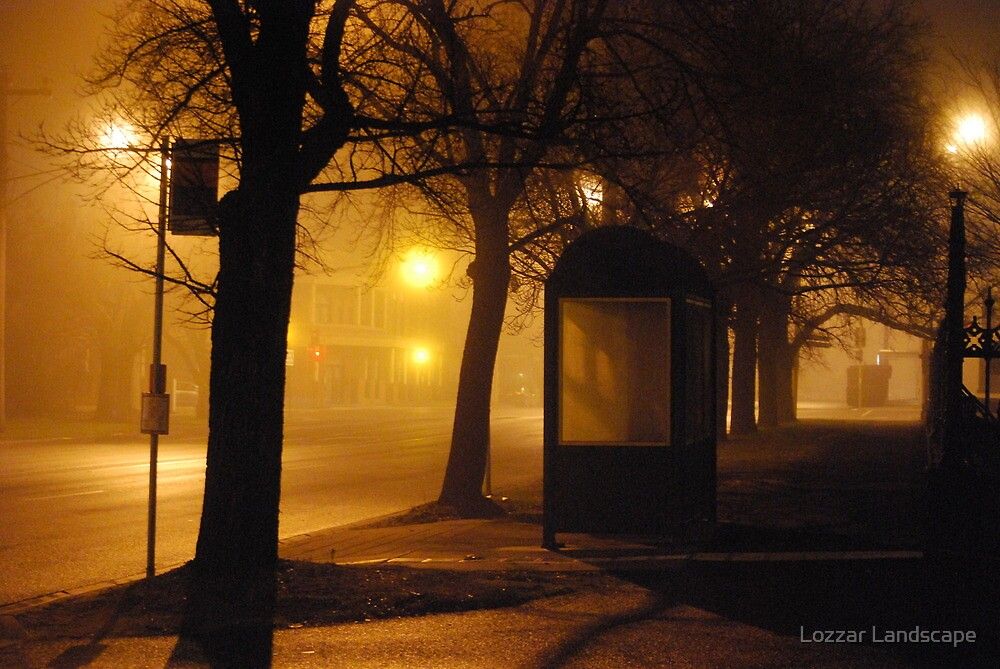 On a Foggy Evening by Lozzar Landscape