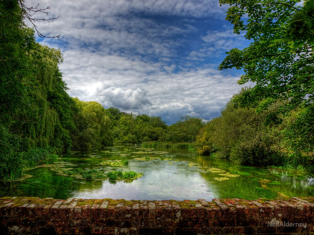 The River Itchen from a Bridge at Itchen Stoke by NeilAlderney