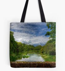 The River Itchen from a Bridge at Itchen Stoke Tote Bag