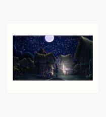 Ponyville, Night Art Print