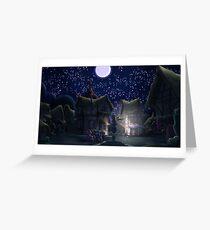 Ponyville, Night Greeting Card