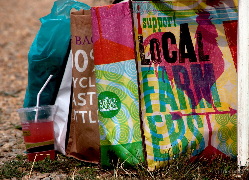 Farmer's Market Tote Bags by phil decocco