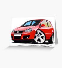 VW Golf GTi (Mk5) Red Greeting Card