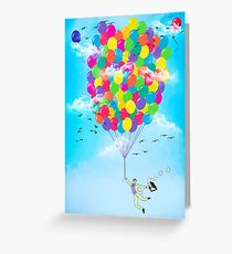 Neon Flight Greeting Card