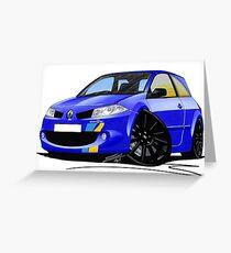 RenaultSport Megane 225 F1 Team Blue Greeting Card