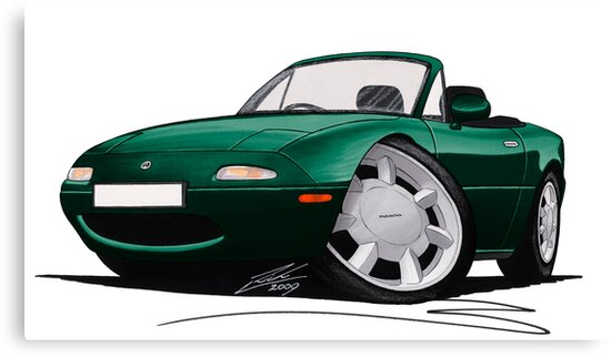 Mazda MX5 (Mk1) British Racing Green by yeomanscarart
