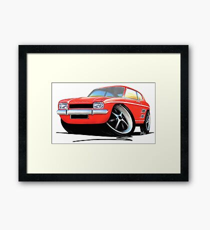 Ford Capri (Mk1) Red Framed Print