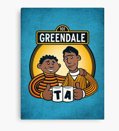 Greendale Street  Canvas Print