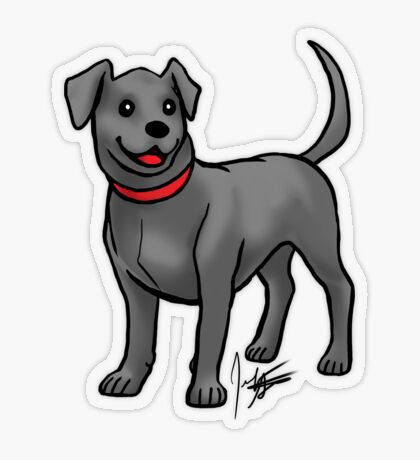 Black Lab Transparent Sticker