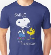 Penauts Smile is Thursday Unisex T-Shirt