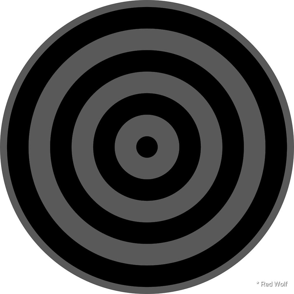 Geometric Pattern: Rondel: Black Granite by * Red Wolf