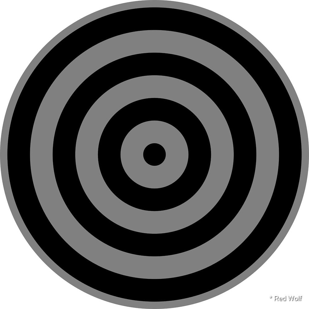 Geometric Pattern: Rondel: Black Battleship by * Red Wolf