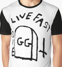 GG Allin Live Fast Die Tattoo (big version) Graphic T-Shirt