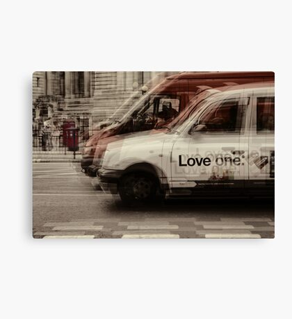 love london cabbies Canvas Print