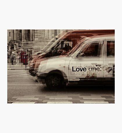 love london cabbies Photographic Print