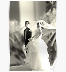 The Groom Stands Humbly in the Background Poster