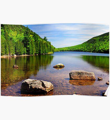 Jordan Pond, Acadia National Park, Maine Poster