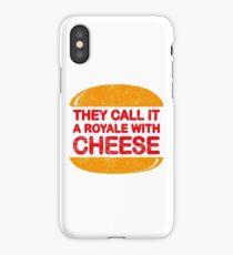Royale with Cheese (aged look) iPhone Case