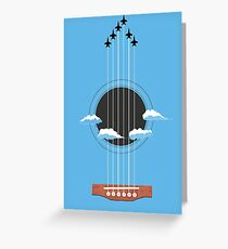 Sky Guitar Greeting Card