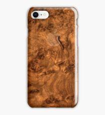 Walnut wood cover iPhone Case/Skin